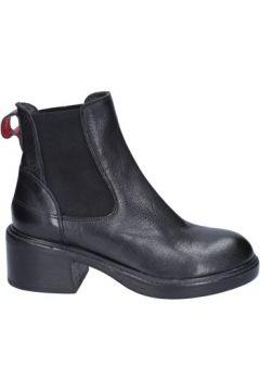 Bottes Moma bottines noir cuir BX502(98483971)