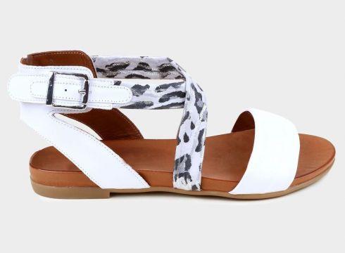 KAMMI Beyaz Hakiki Deri Kadın Comfort Sandalet(118223705)