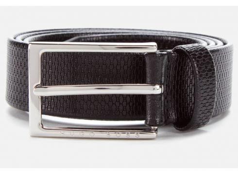 BOSS Men\'s Cedy Embossed Belt - Black - 80cm/W30(90302290)