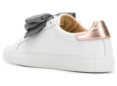 D.A.T.E. checked bow detail sneakers - Blanc(76488711)