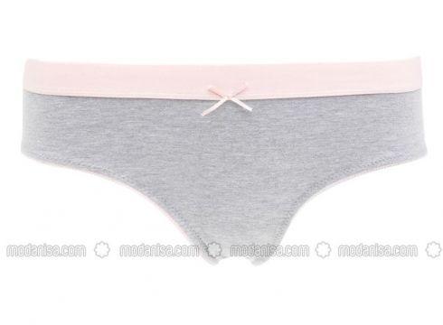 Gray - Panties - DeFacto(110325439)