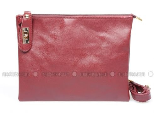 Maroon - Clutch - Bag - MOON(100929101)