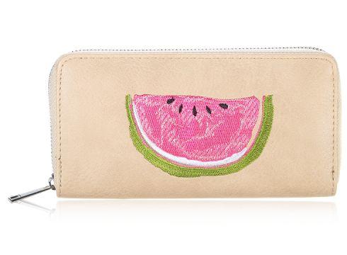 Kunstleder Geldbörse Wassermelone Stickerei Geldbeutel Portemonnaie(93431735)