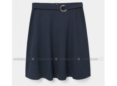 Unlined - Navy Blue - Skirt - Violeta by Mango(100924163)