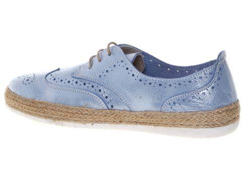 Penford Kadın Deri Mavi Düz Ayakkabı(113969040)