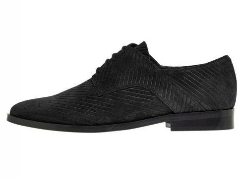 BIANCO Suède Corduroy Klassieke Derby-schoenen Dames Zwart(92581650)