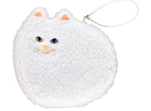Handtäschchen Large Fluffy Cat Weiß(93939602)