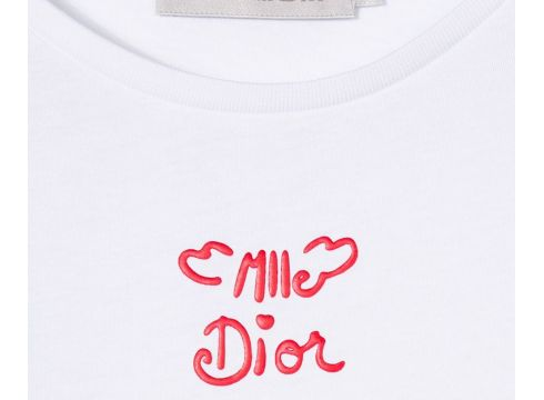 Baby Dior Mlle Dior printed T-shirt - Blanc(76577489)