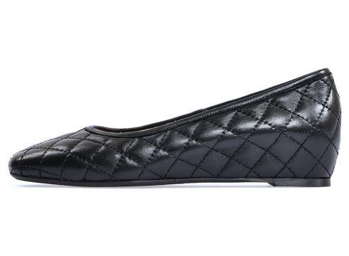 Flower Hakiki Deri Siyah Günlük Dolgu Ayakkabı(124525285)