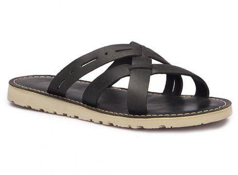 Lumberjack SECRA Siyah Erkek Deri Terlik - FLO Ayakkabı(65601532)
