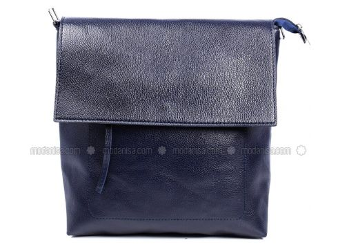 Navy Blue - Shoulder Bags - Sapin(110326377)