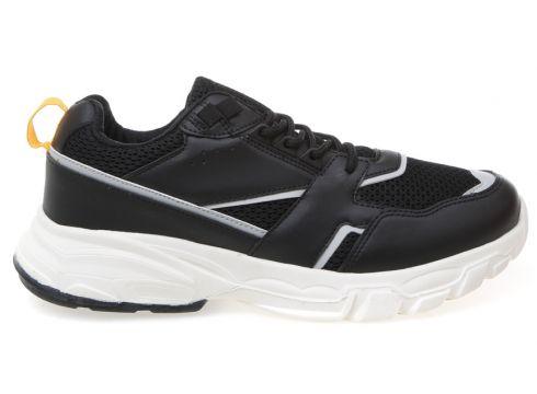 Limon Suni Deri Siyah Sneaker(113996705)