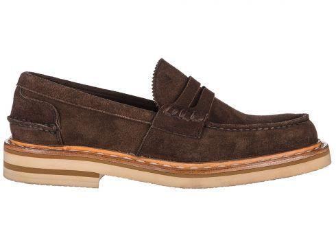 Men's suede loafers moccasins castgold(77302791)