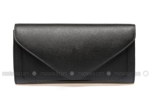 Black - Clutch - Bag - Varolli(100928853)