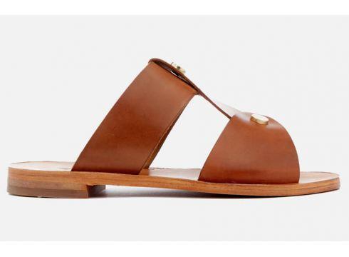 Hudson London Women\'s Aponi Leather Double Strap Sandals - Nude - UK 3 - Tan(50512991)