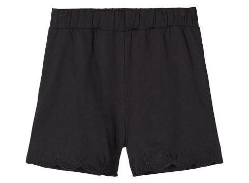 NAME IT Bestickte Baumwoll Shorts Damen Schwarz(110704908)