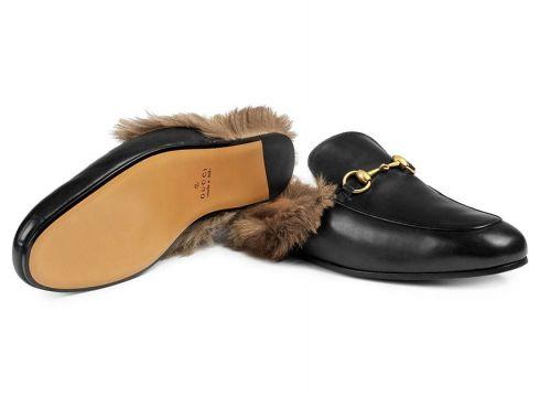 Gucci Mules Princetown en cuir - Noir(65980103)