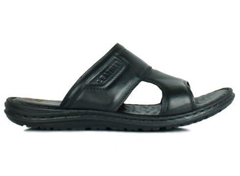 Kalahari Hakiki Deri Siyah Erkek Sandalet(105131116)