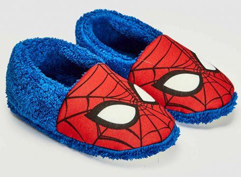 Çocuk Erkek Çocuk Spiderman Lisanslı Kürk Astarlı Ev Ayakkabısı(127115520)