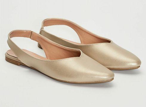 Kadın Kadın Parlak Görünümlü Babet Ayakkabı(127690845)