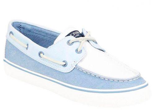 Sperry Top Sider BAHAMA WASHED CANVAS Beyaz MAVI Kadın Sneaker(51137113)