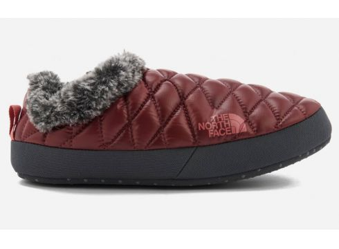 The North Face Women\'s Thermoball® Tent Mule Faux Fur IV Slippers - Shiny Barolo Red/Iron Grey - XS - Rot(50504429)