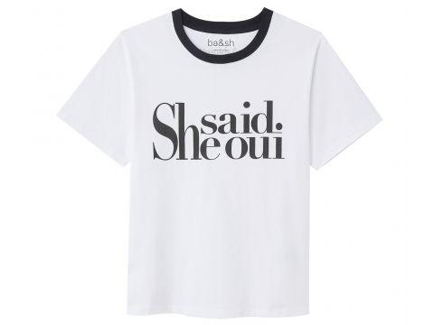 Camiseta con mensaje WISHAL SHE SAID YES(93901497)
