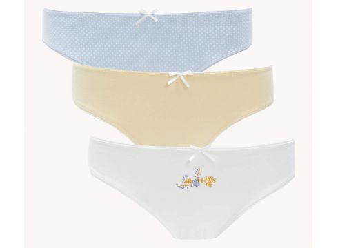 DeFacto Kadın 3\'lü Basic Bikini Külot(125928489)