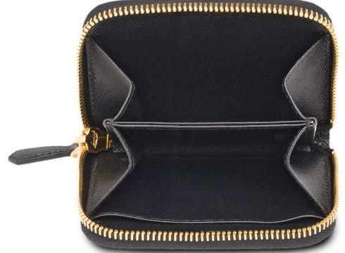 Prada zip around coin purse - Noir(76646635)