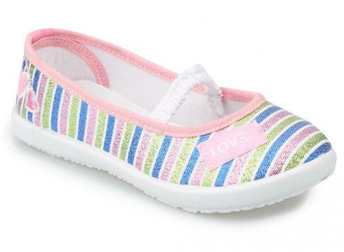 Kinetix Tutti Pembe Mor Yeşil Kız Çocuk Babet - FLO Ayakkabı(79821546)