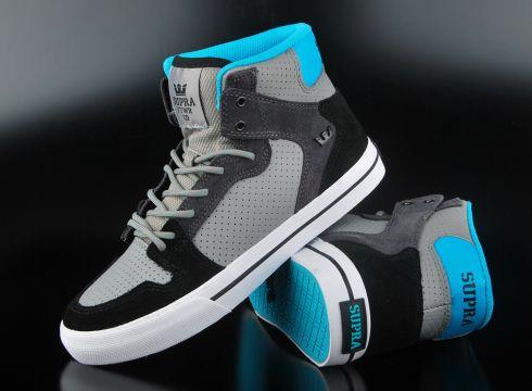 Supra Kids Vaider Sneaker Grey Turquoise White(87045493)