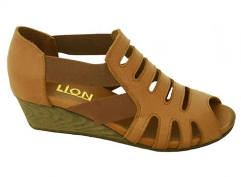 Lion Kadın Taba Lastikli Hakiki Deri Mantar Taban Sandalet(118053777)