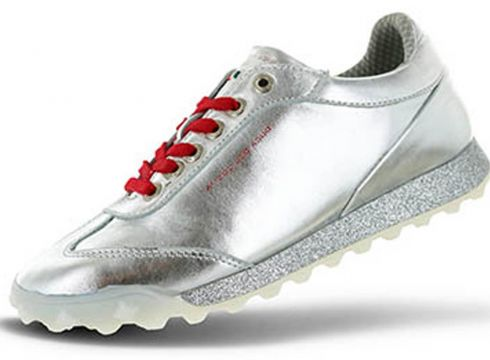 Duca del Cosma Marquessa Golfschuh Damen Golfschuhe ohne Spikes silber 38(79643700)