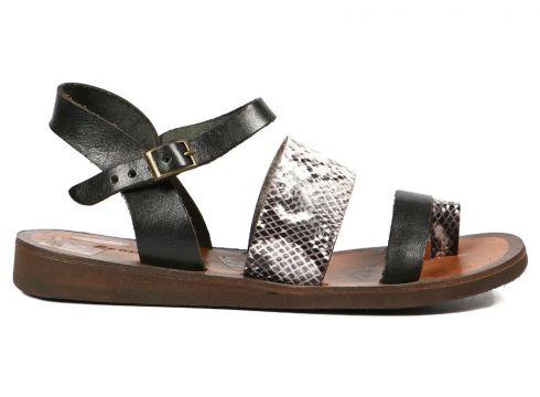 Hammer Jack Siyah Yılan 3 Kadın Terlik / Sandalet 183 1605-Z(105182812)