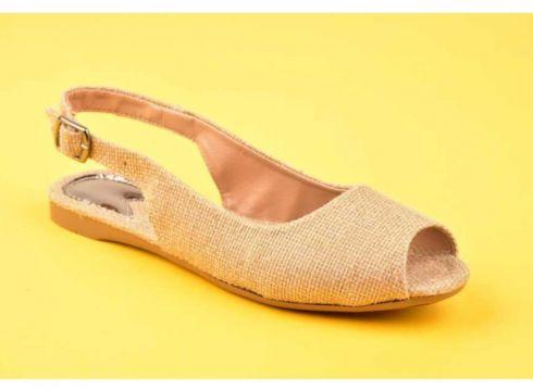 SWELLSOFT Kadın Bej Hasır Ayakkabı 050-20y(119323661)