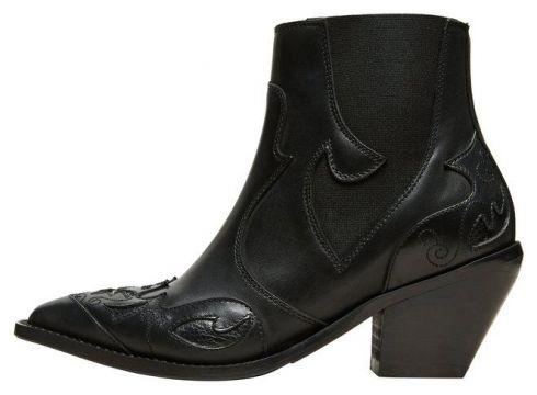 SELECTED Leder Cowboy Stiefel Damen Schwarz(104151963)