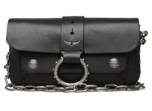 Kate Wallet Smooth Calfskin Bags Small Shoulder Bags - Crossbody Bags Schwarz ZADIG & VOLTAIRE(109243224)