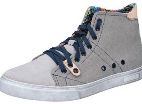 Baskets Cruz sneakers gris daim textile BZ692(115398899)