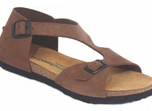 Comfortfüsse 0 Deri & Mantar Tabanlı Kadın Sandalet -lorah(114213766)