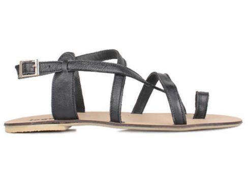 Loggalin Hakiki Deri Siyah Kadın Sandalet(122020107)