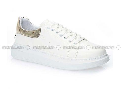 White - Golden tone - Sandal - Slippers - Y-London(100929809)