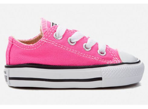 Converse Toddlers\' Chuck Taylor All Star Ox Trainers - Pink Pow - UK 2 Toddler - Rosa(50500916)