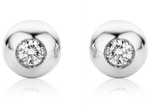 VALERIA, Ohrstecker aus 750 Weißgold mit 0.06 Karat Diamanten(94939925)