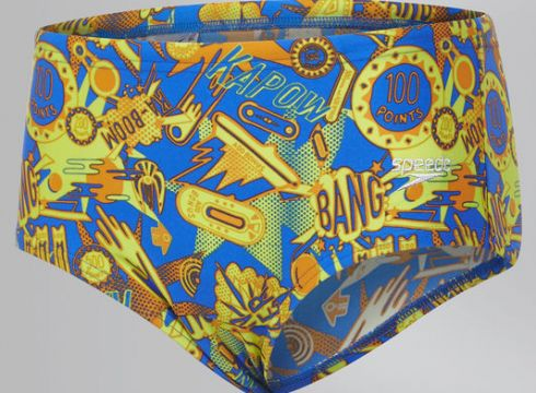 Speedo Ignition Flare Badehose, 12 cm, Blau/Orange - Size: 24(86095529)