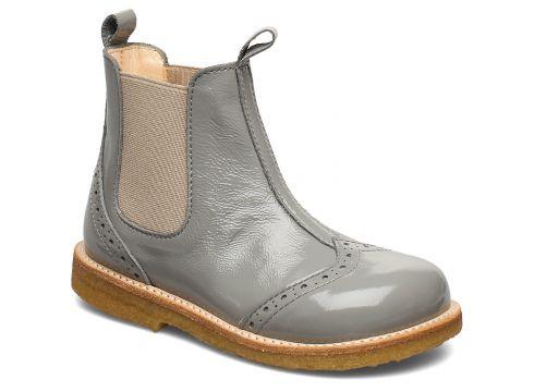 Booties - Flat - With Elastic Stiefel Halbstiefel Grau ANGULUS(105286430)