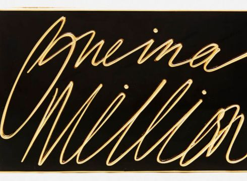 Lulu Guinness Women\'s Olivia \'One In A Million\' Clutch - Black/Gold(50503680)