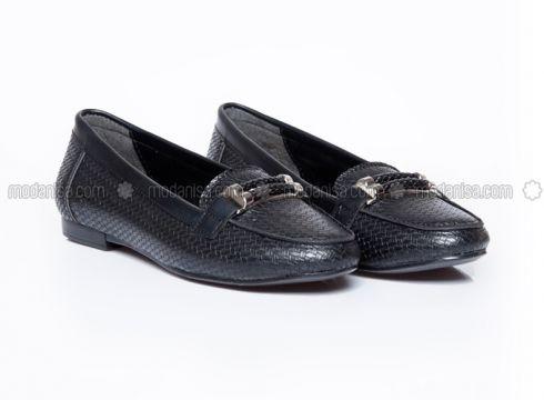 Black - Casual - Flat Shoes - Ayakkabı Havuzu(100921510)