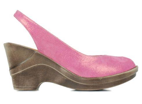 Erkan Kaban Hakiki Deri Fuşya Kadın Topuklu Ayakkabı(105242900)